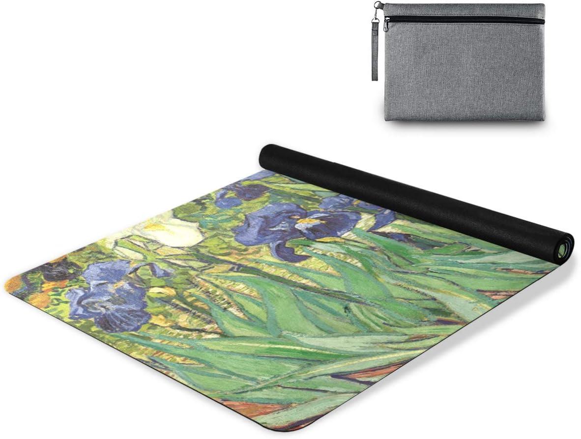 senya Non Slip Yoga Washington Mall Towel Cheap mail order shopping Mat Painting Micro Flower Vintage