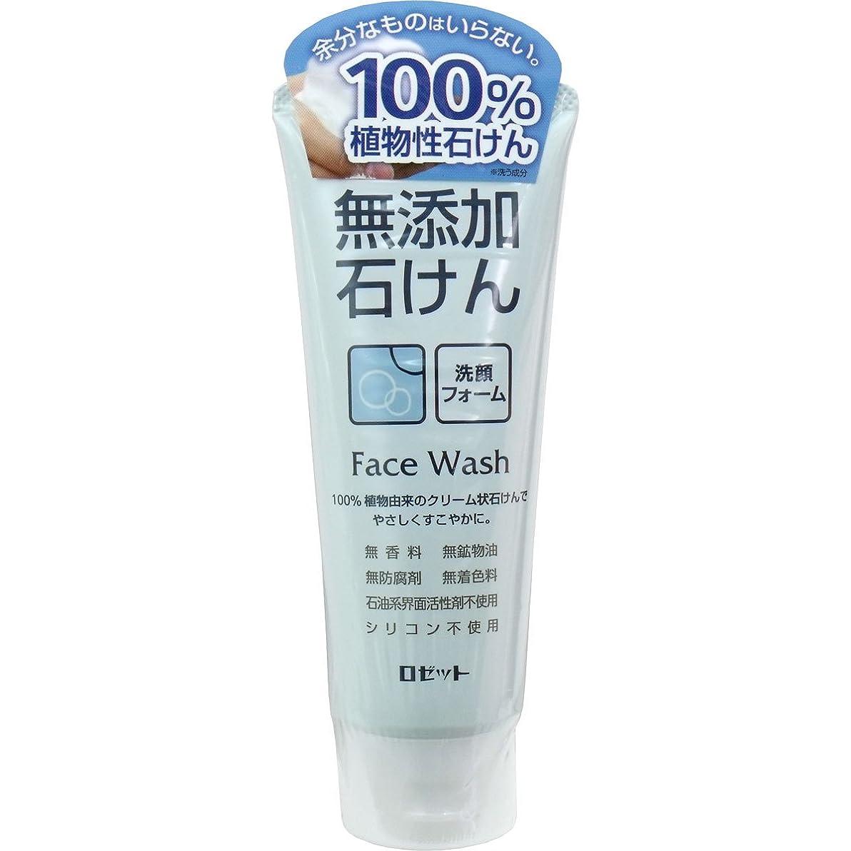 緊張する肺炎エンディング【ロゼット】無添加石けん 洗顔フォーム 140g ×20個セット