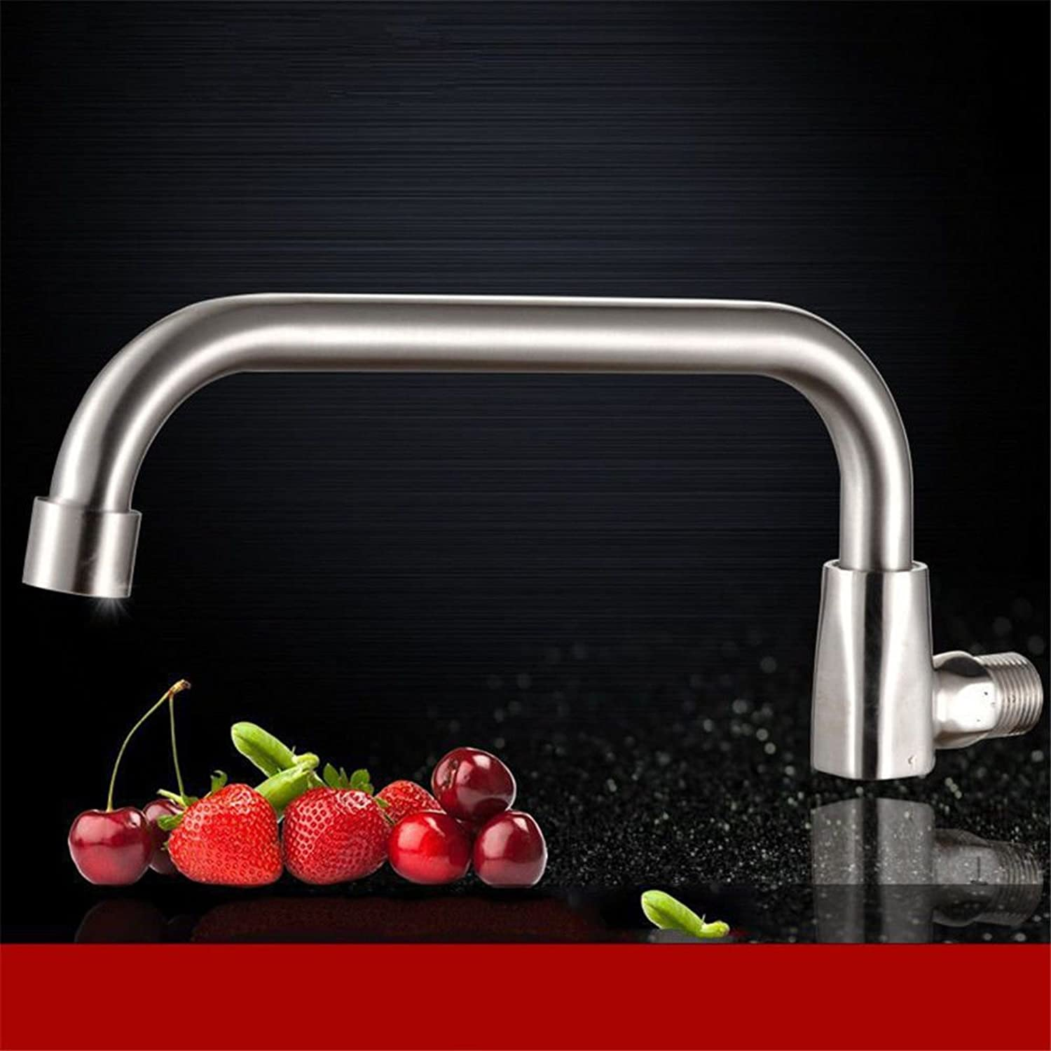 Commercial Single Lever Pull Down Kitchen Sink Faucet Brass Constructed Polished Kitchen Stove redating Faucet Into The Wall Stainless Steel Faucet Single Cold Sink Faucet