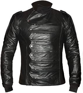 Bucky Barnes Superb Genuine Leather Captain America Winter Soldier Jacket & Vest
