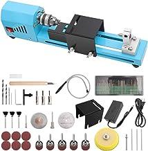 KKTECT Mini taladro de torno portátil para trabajar la madera de bricolaje Torno de carpintería eléctrico en miniatura Molienda de cuentas Maquina de cortar Mini juego de rectificadora de cuentas