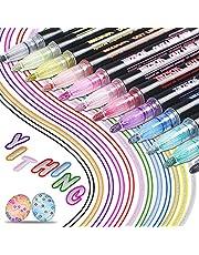 Nieuwste Outline Pens,YITHINC 12 Kleuren Double Line Outline Pens Gift Card Schrijven Tekening Pens voor Verjaardag Groeten, Scrap Boeken,Schilderijen,DIY Art Crafts