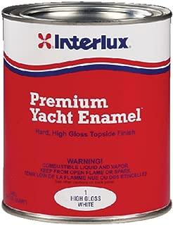 Interlux Y220/QT Yacht Enamel Semi Gloss (White, Quart), 32. Fluid_Ounces