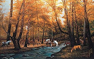 Huge Photo Wall Mural 12 Feet 6 Inch Wide X 9 Feet High Covers an Entire Wall! Tropical Beaches, Waterfalls, Mountains, Nature (Gathering Horses Wall Mural)