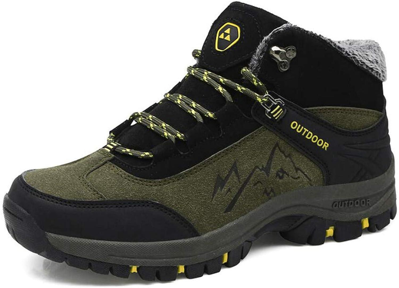 Men's Sneakers Non-Slip Plus Velvet Warm Outdoor Hiking Cotton shoes Men's Large Size Hiking shoes Men's shoes