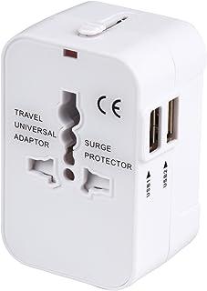 海外安全旅行充電器 コンパクトな コンセント 2USBポート変換プラグ 電源プラグ 旅行アダプター 壁の充電器 NONNBIRI(ホワイト)