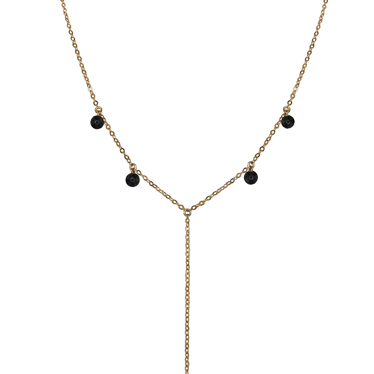 Max 89% OFF Black Onyx Boho Y Bronze Large special price Necklace in