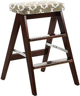 Sillas Escalera de Madera de 3 Pasos Plegable-Cocina Hogar Step Stefer Portable Escalera (Color: Marrón) Múltiples Ocasiones, Marrón, Color Nombre: Marrón (Color : Brown)