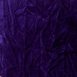 Velvet Crushed PURPLE Upholstery Fabric By the Yard