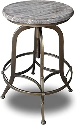 Set of 2 Chester Retro Steel Rotating Adjustable Height Barstool - Copper