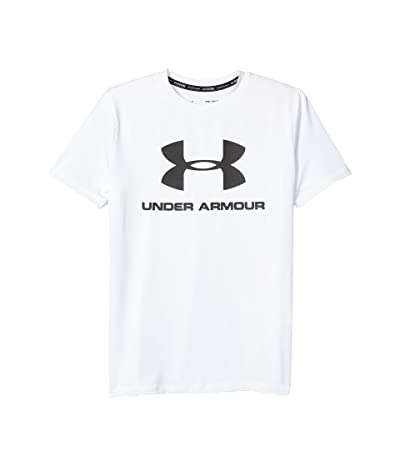 Under Armour Kids Big Logo Surf Shirt (Big Kids) (White) Boy