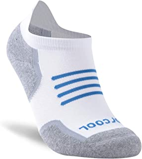 Forcool Women's Men's Dry-fit Cushion Ankle Running Socks Tab, M/L/XL, 1/3 Pairs