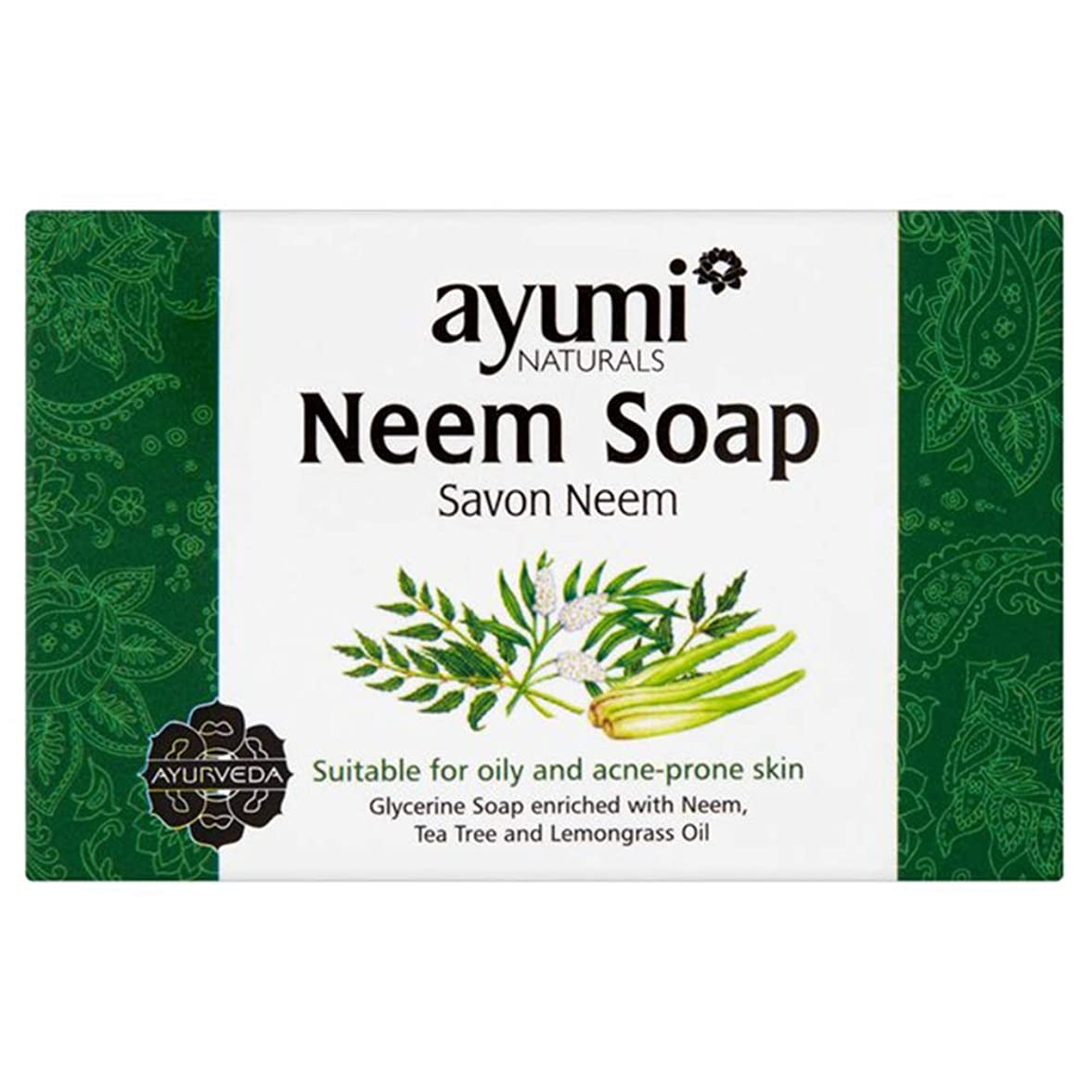 海里騒々しいレンジAyuuri Ayurvedic Herbal Natural Neem Soap 100g by Ayuuri