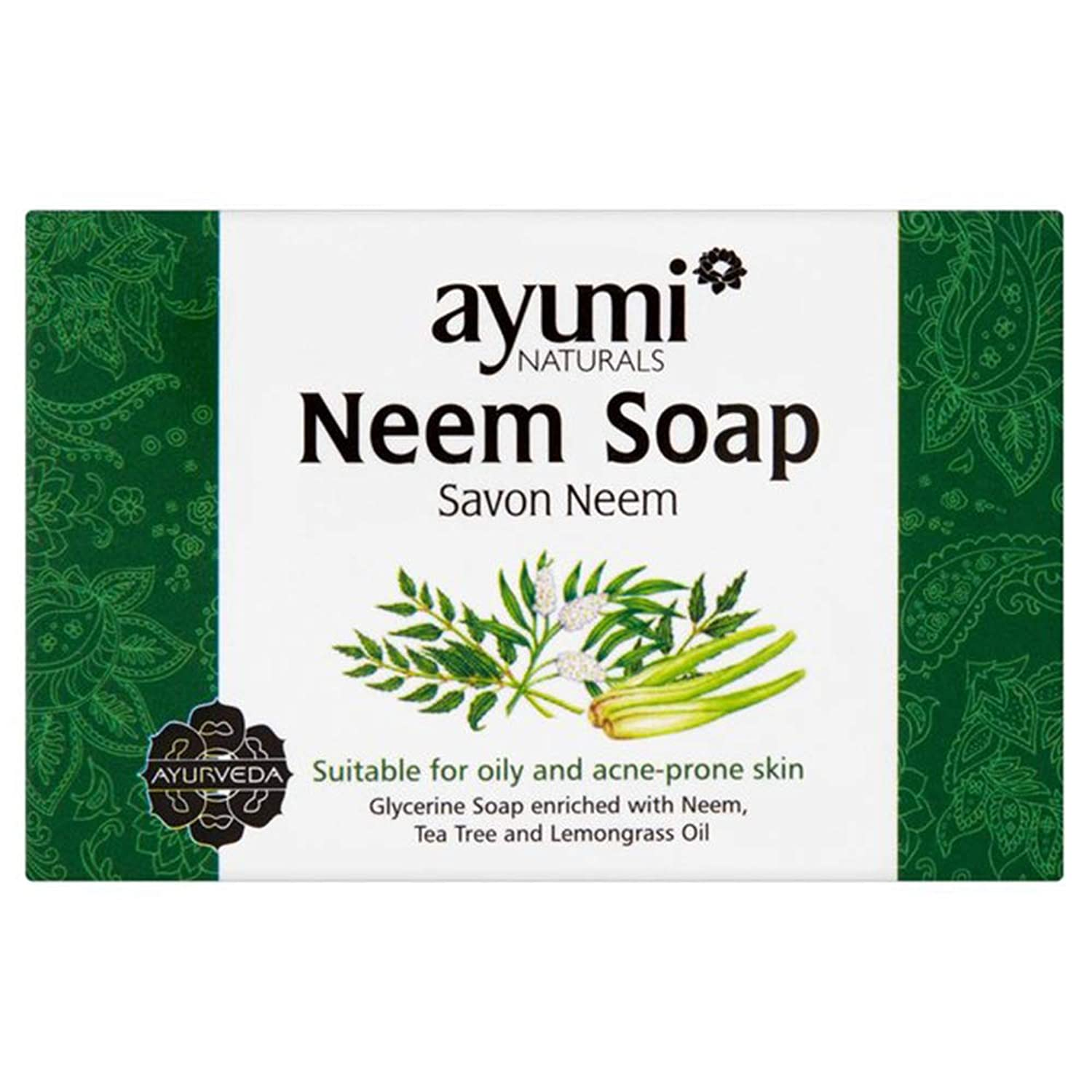 Ayuuri Ayurvedic Herbal Natural Neem Soap 100g by Ayuuri