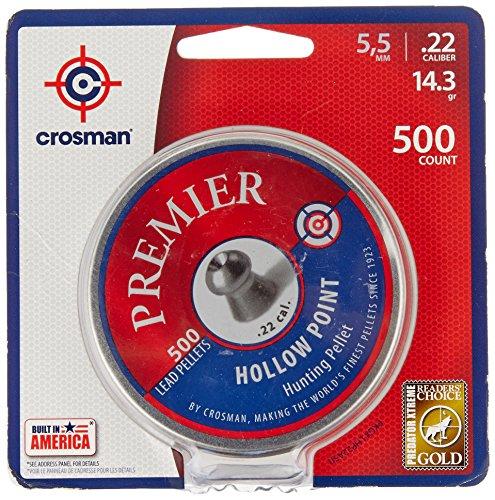 Crosman Premier Hollow Point 500 pellets in a tin. LHP22