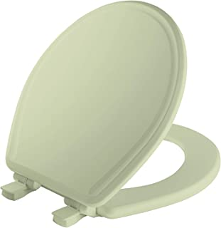 MAYFAIR Toilet Seat will Slow Close, Never Loosen and Easily Remove, ROUND, Durable Enameled Wood, Bone, 48SLOWA 006