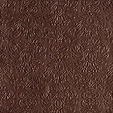 Ambiente - tovaglioli - Elegance - Con stampa - brown/marrone