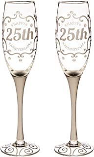 Best 25th wedding anniversary champagne glasses Reviews