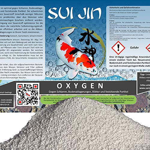 SUI JIN Teichprodukte 10kg(10L) Oxygen - Peroxyd O2 Fadenalgen Biologie Optimierung mit Sauerstoff