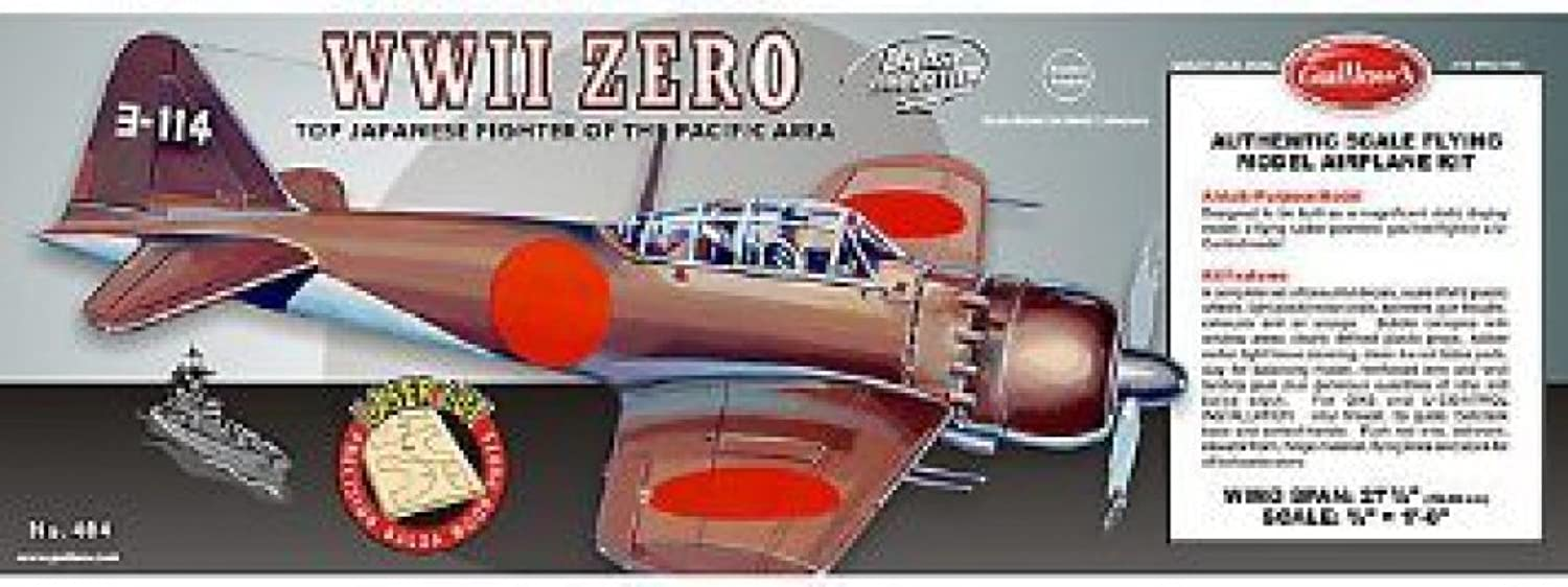 Guillow's Mitsubishi Zero Authentic Scale Flying Airplane Model Kit ( 404LC)