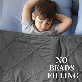 SunStyle Home Kids Weighted Blanket No Beads Filling Toddler Weighted Blanket- 7LB Heavy Blanket for Kids (7 lbs, 41