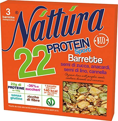 Eurofood Barretta Protein Sport Semi Zucca, Lino, Anacardi e Cannella Bio - 80 g
