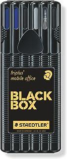 Staedtler Triplus Mobile Office 34 SB6B. Estuche con bolígrafos de punta fina y colores azul y negro.