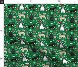 Spoonflower Stoff – Französische Bulldogge Weihnachten