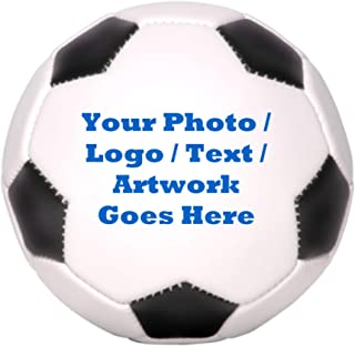 Custom Photo Soccer Ball - Full Size #5 - Full Color Printed - Player Trophy - Coach Gift