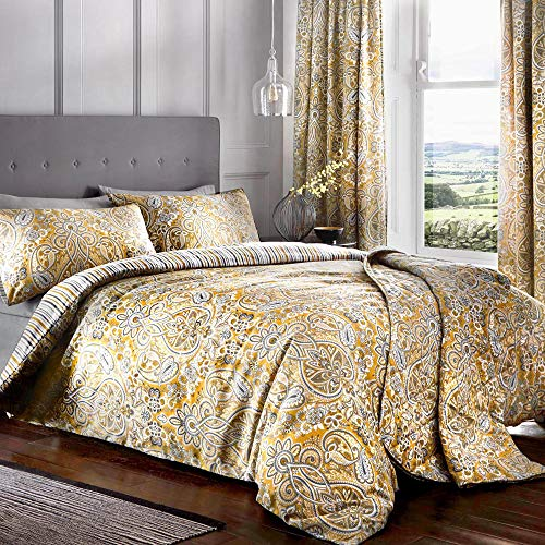 Dreams & Drapes - Maduri - Easy Care Duvet Cover Set - Double Bed Size in Ochre