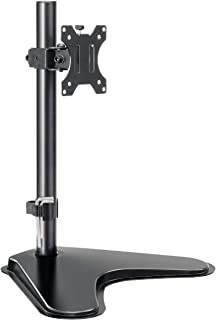 MOUNTUP Single Monitor Stands - Free Standing VESA Monitor Desk Mount fits 13 to 32 inch Computer Screen with Height Adjus...