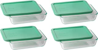 Pyrex 3-cup Rectangle Glass Food Storage Set Container (Pack of 4 Containers)