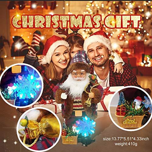Janly Clearance Sale Novedad juguete divertido, Nueva Eléctrica Santa Muñeca Nieve Lámpara de Decoración de Navidad Accesorios para el Hogar Juguetes y Pasatiempos para el Regalo de los Niños