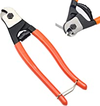 [Upgraded]CKE 8 inch Steel Cable Wire Cutters Heavy Duty Wire Rope with Diamond Grinding..