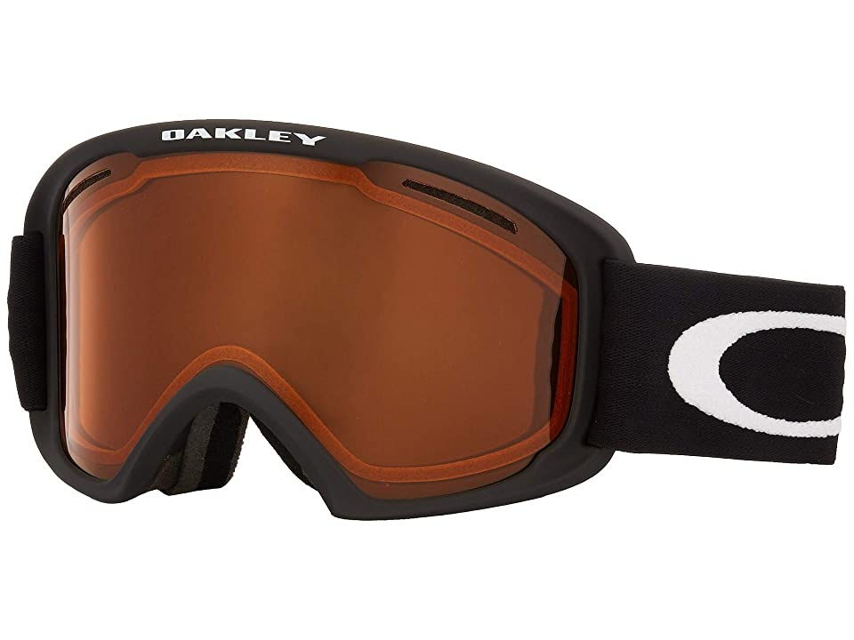 Oakley O-Frame 2.0 XM (Matte Black w/ Persimmon/Dark Grey) Snow Goggles