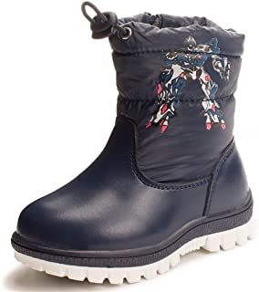 Insulated Cold Rating unyielding1 Kids Winter Snow Boots Rubber Waterproof