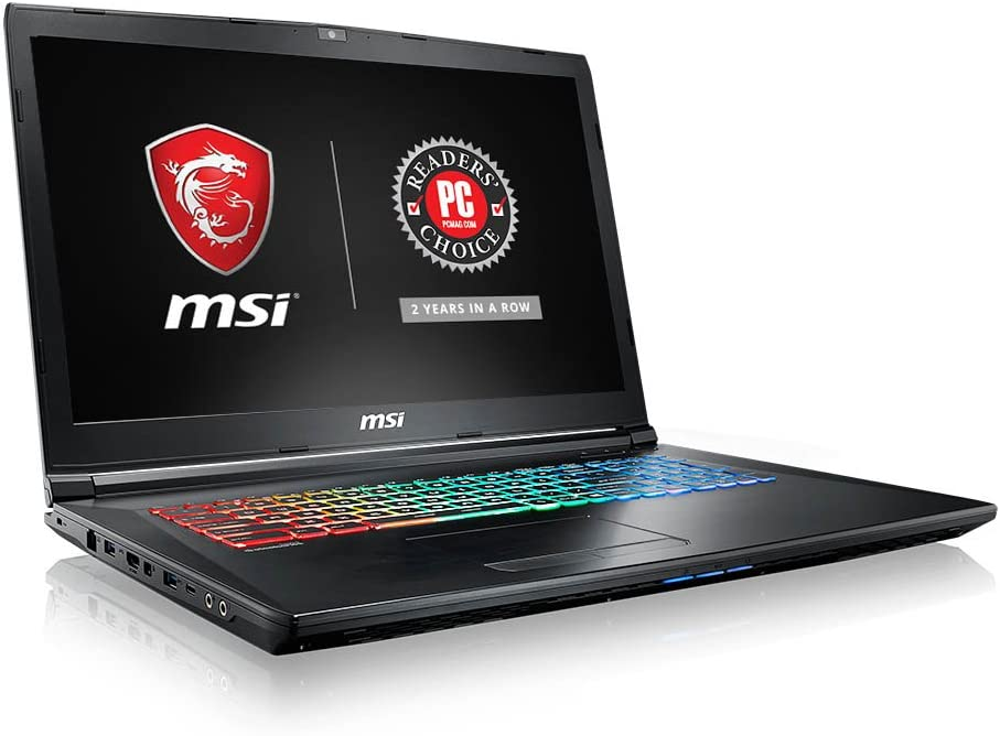 """MSI GP72VRX Leopard Pro-473 17.3"""" 120Hz 5ms Display Thin and Light Gaming Laptop GTX 1060 3G Core i7-7700HQ 16GB 512GB NVMe SSD Full Color Keyboard"""