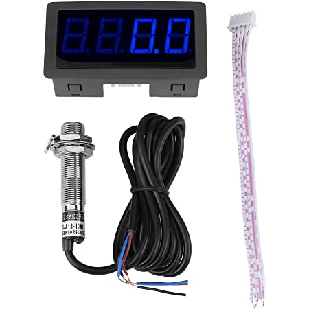NPN Hall Proximity Switch Sensor Kit 4 Digital LED Tachometer RPM Speed Meter
