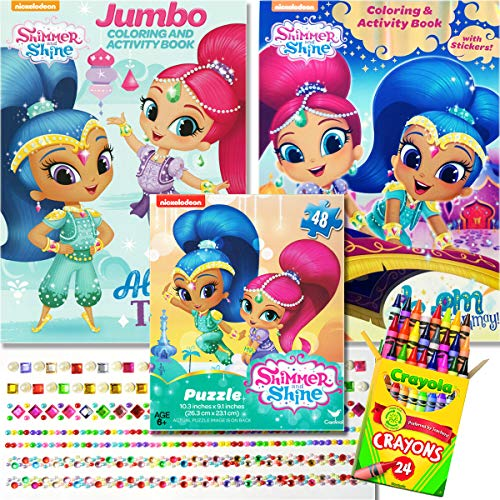 - Shimmer And Shine Coloring Books And Puzzle Set - Includes 2 Coloring Books  With Over 30 Stickers, 1 [...]