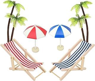 Mini-Stranddekorationen Tortendeko Palmen Urlaub Geschenke Badezimmer Vitrine