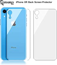 (2 Pack) SHARKSBox Upgrade iPhone XR Back Screen Protector for Apple iPhone XR [Lifetime Replacements][Case Friendly] Back Temper Glass Screen Protector Rear Film Compatible with iPhone XR 6.1 inch