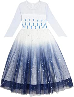 Tsyllyp Girls Fancy Inspired Party Dress Halloween Cosplay Costume Ice Princess Costume