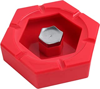 Ashtray - Hexagon Shape - Red