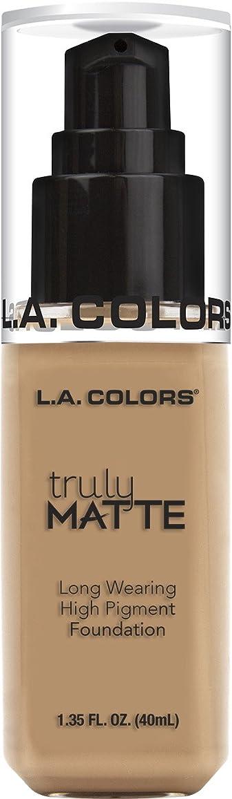 オートメーショントラック指L.A. COLORS Truly Matte Foundation - Soft Beige (並行輸入品)