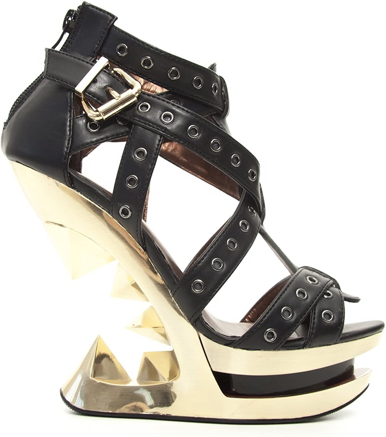 Hades shoes H-Taunt gold Wedge Heel 9 Black