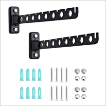 Laundry Hanger Dryer Rack Black Wall Mount Clothes Hanger Retractable Clothes Rack Wall Hangers for Clothes 2 Pack