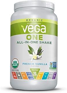Vega One Organic Meal Replacement Plant Based Protein Powder, French Vanilla - Vegan, Vegetarian, Gluten Free, Dairy Free ...