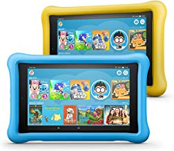 """Fire HD 8 Kids Edition Tablet 2-Pack, 8"""" HD Display, 32 GB, Kid-Proof Case - Yellow/Blue"""