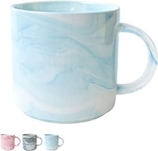 Marble Ceramic Coffee Mug, Blue Marble Cup for Women, Girls, Wife, Mom, Grandma, 13 Ounce/380 Milliliters, 1 Pack