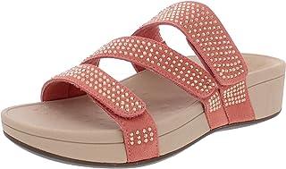 Vionic Women's Pacific Alexis Platform Sandal - Ladies Adjustable Straps Slide Sandals That Include Three-Zone Comfort wit...